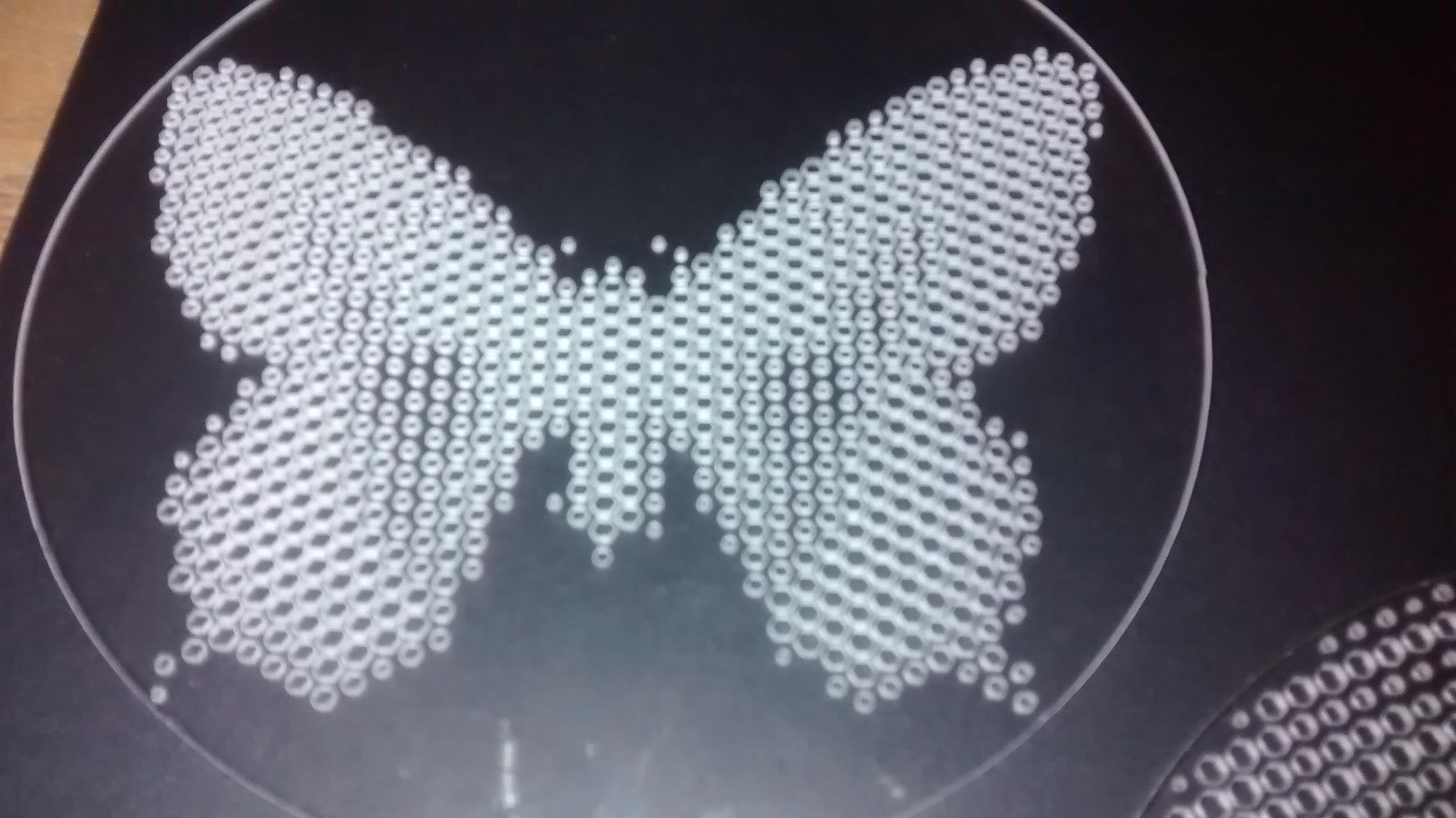laser cut half tone coffee stencil